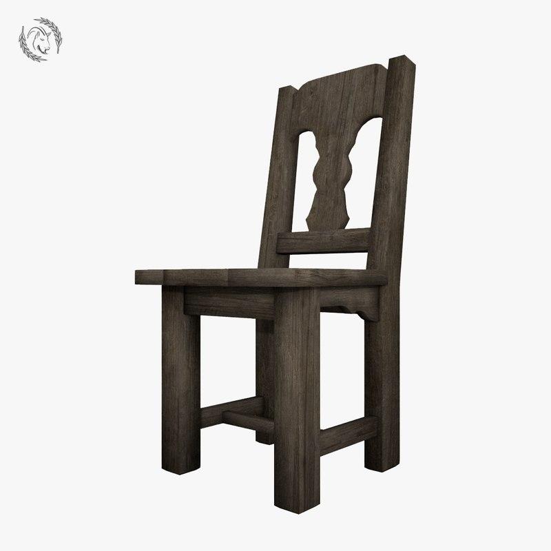 3D chair medieval