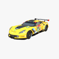low-polygonal chevrolet corvette c7 3D model