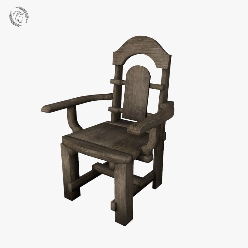 3D chair medieval model