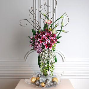 flower arrangements 3D