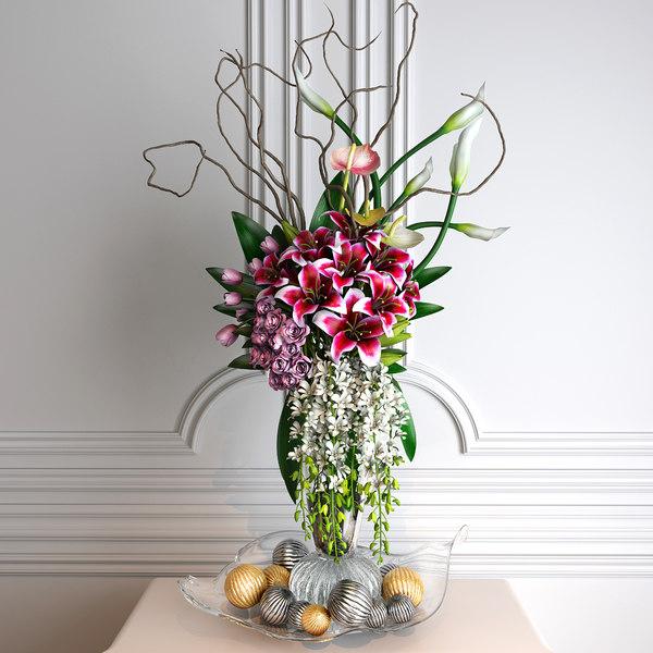 flower arrangements 3D