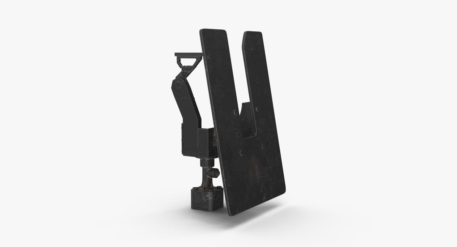 3D minigun m134 mount dirt