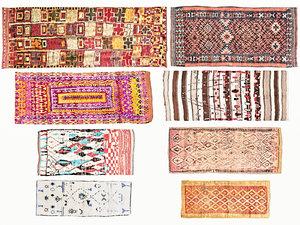 3D old vintage carpets 01 model