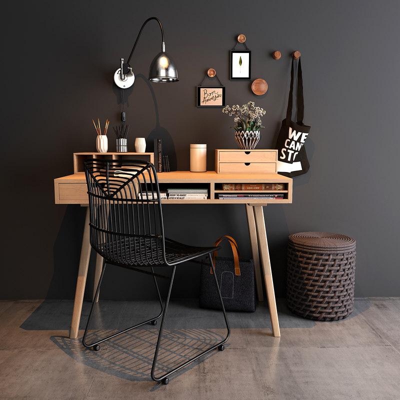 home workspace set 3D model