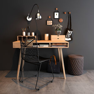 home workspace set 3D model