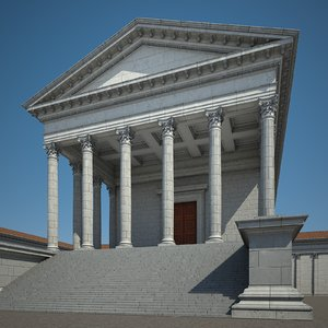 classical roman temple 3D model