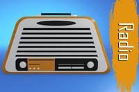 3D retro radio model