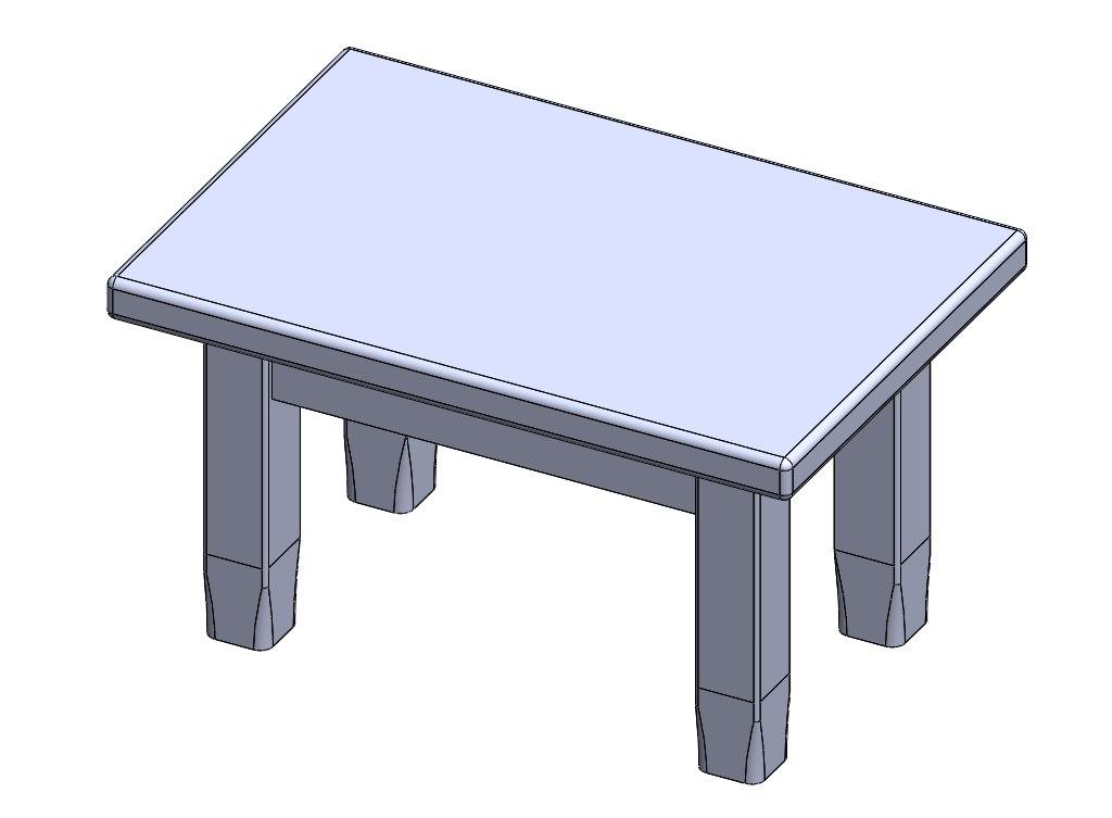 3D model legged table
