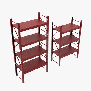 3D warehouse shelf werehouse