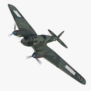 heinkel 111 bomber a1 3D model