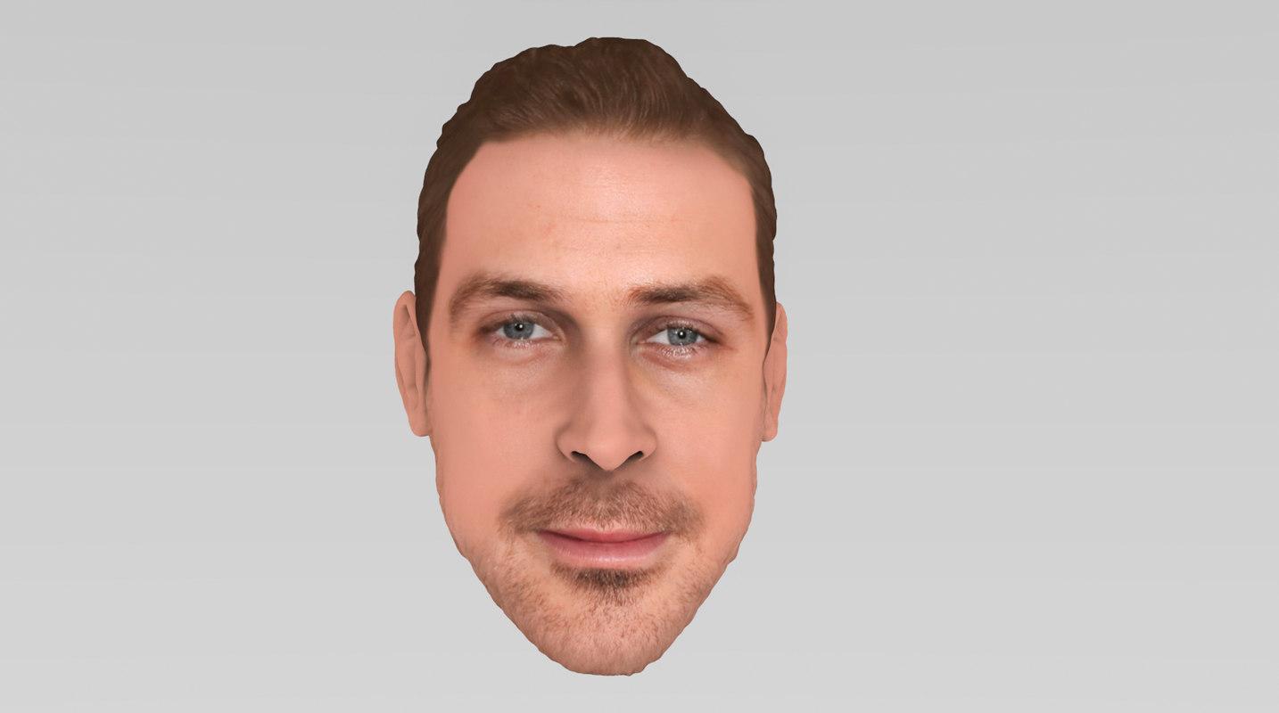 3D gosling ryan model