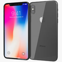realistic apple iphone x 3D model