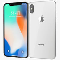 realistic apple iphone x model