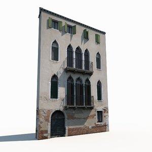 old building facade 3D