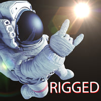 Astronaut rigged 3d model