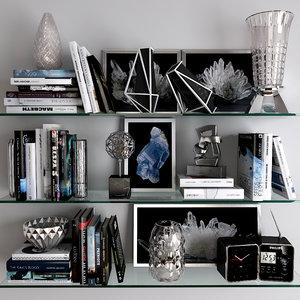 decorative set 12 3D model