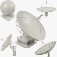 3D model set satellite dishs