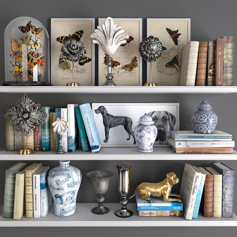 decorative set 13 3D model