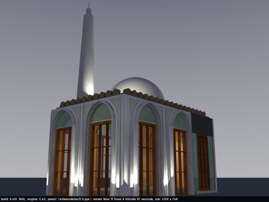 old omani mosque architecture model