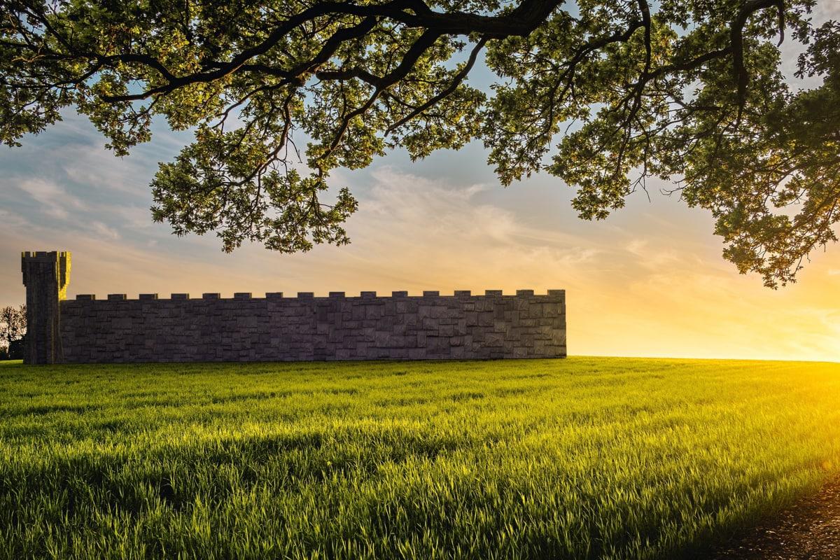 medieval fantasy tower walls 3D model