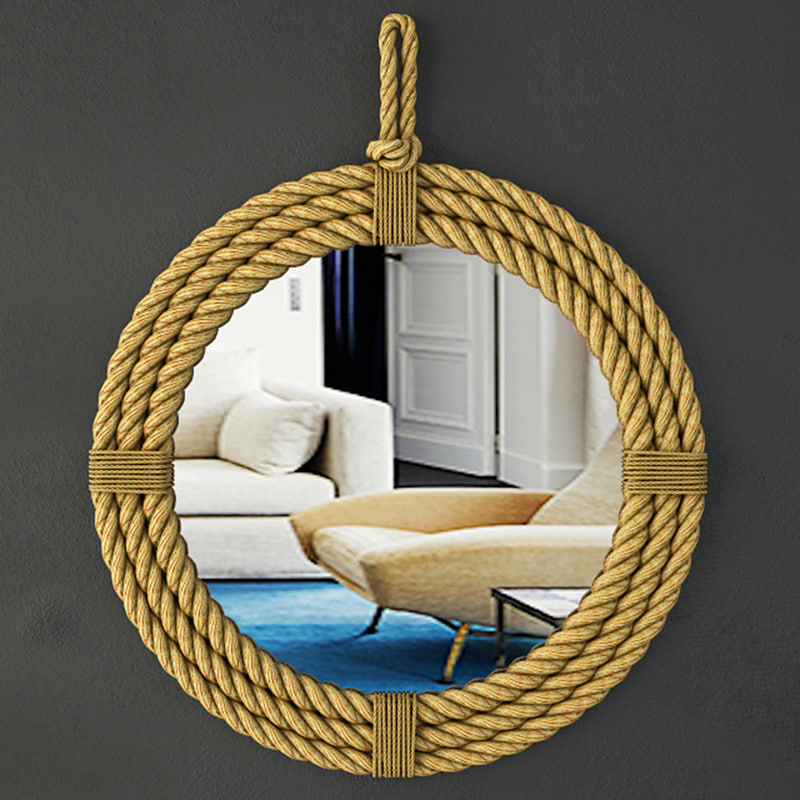 3D hanging rope mirror