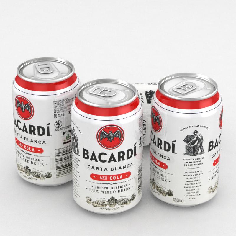3D cola alcohol bacardi