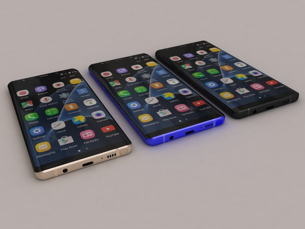 realistic samsung galaxy note 3D
