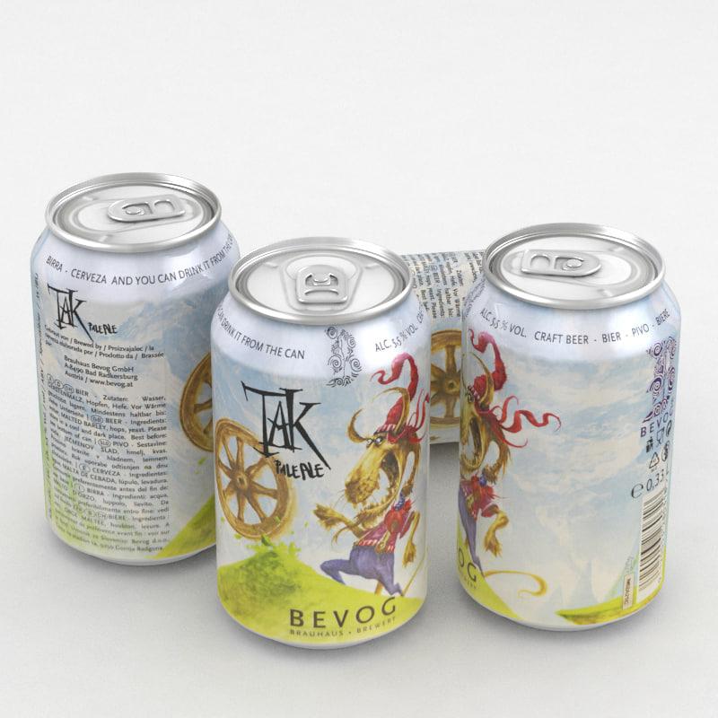 beer ale bevog 3D model