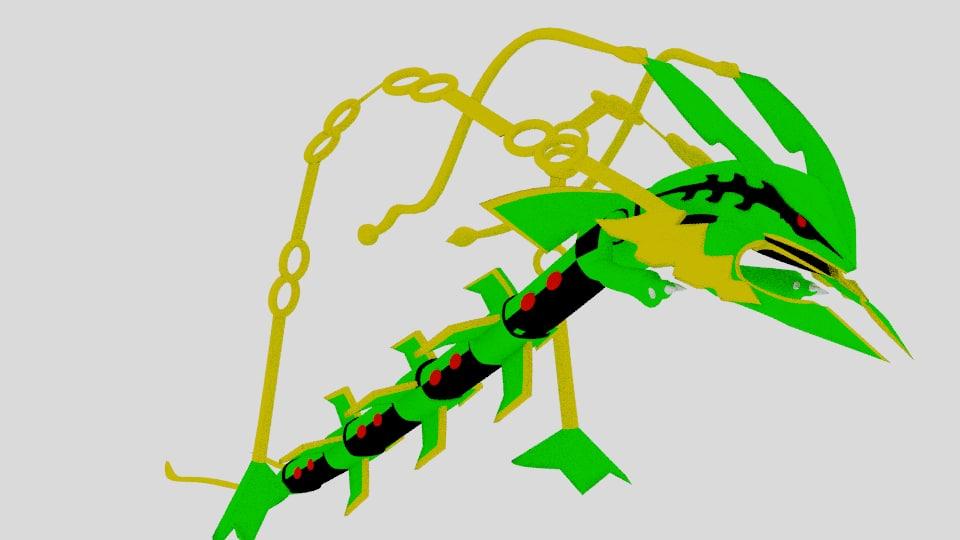 3D mega rayquaza model