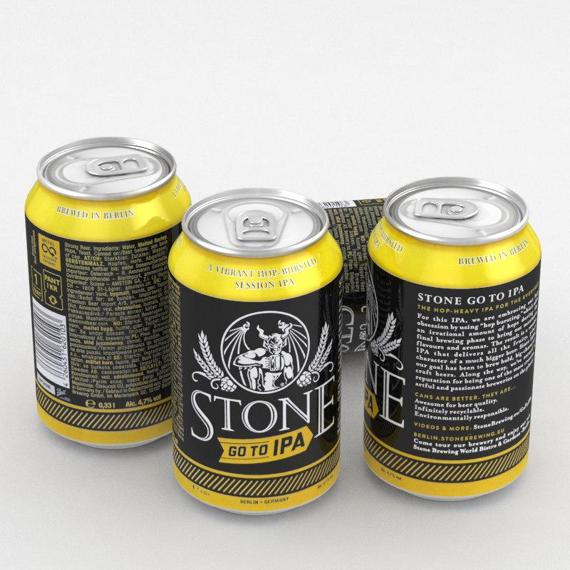 3D beer ipa stone