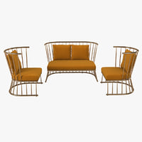 3D model winsdor chair sofa set
