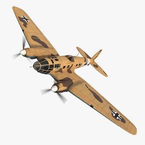 3D heinkel 111 bomber vg model