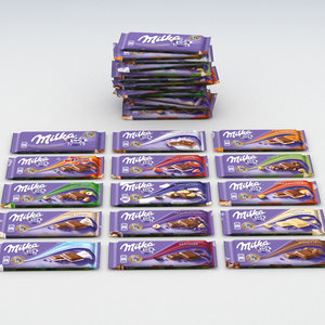 milka chocolates 100g 3D