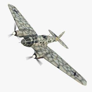 3D model heinkel 111 j transport