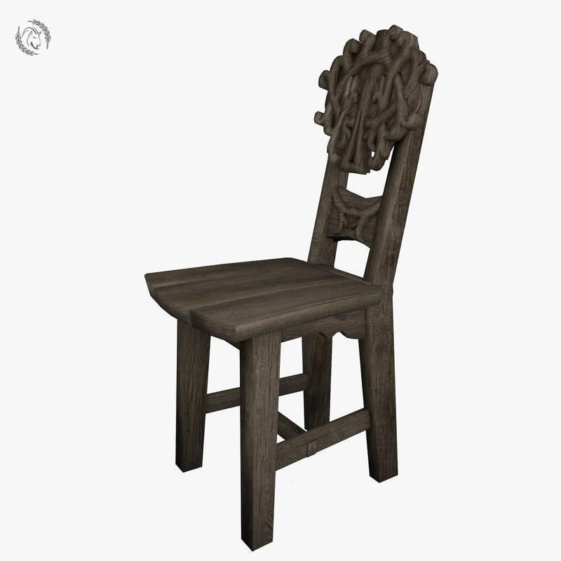 gothic chair model & Gothic chair model - TurboSquid 1202898