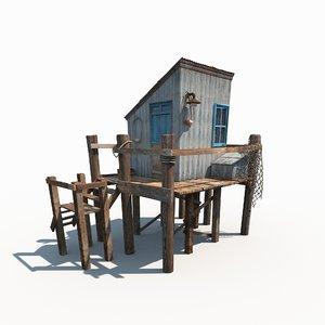 fishing cabin 3D model