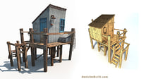 fishing cabin 3D model