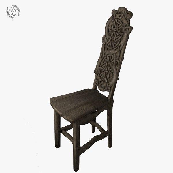 3D chair gothic