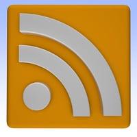 rss feed logo 3D