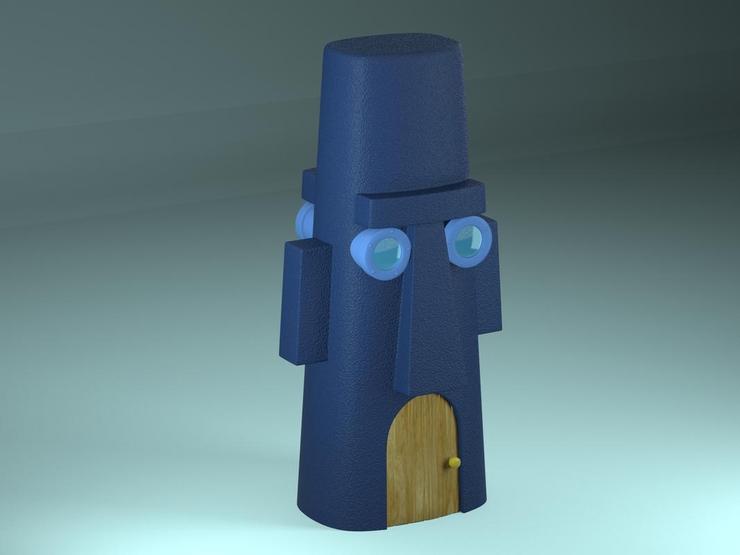3D house squidward s
