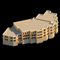kindergarten residential complex 3D model