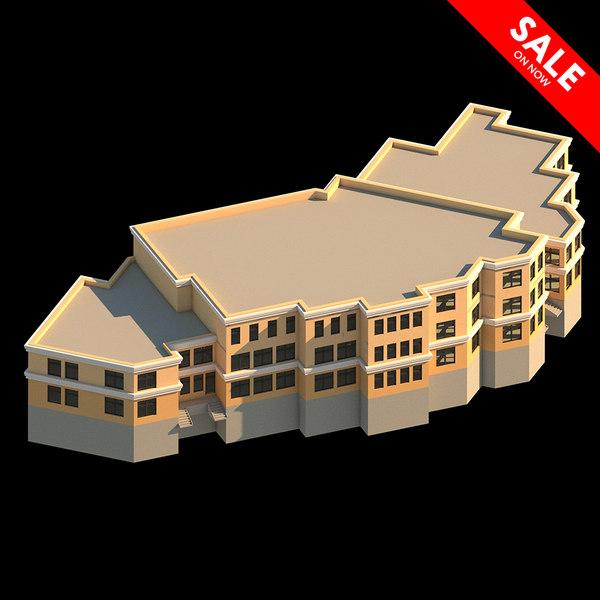 kindergarten residential complex 3D model