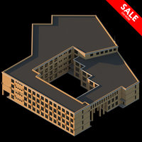 3D school residential complex