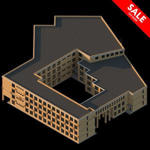 3D school residential complex