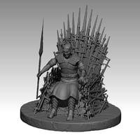 night king iron throne 3D model