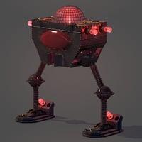 3D model light bulb robot rig