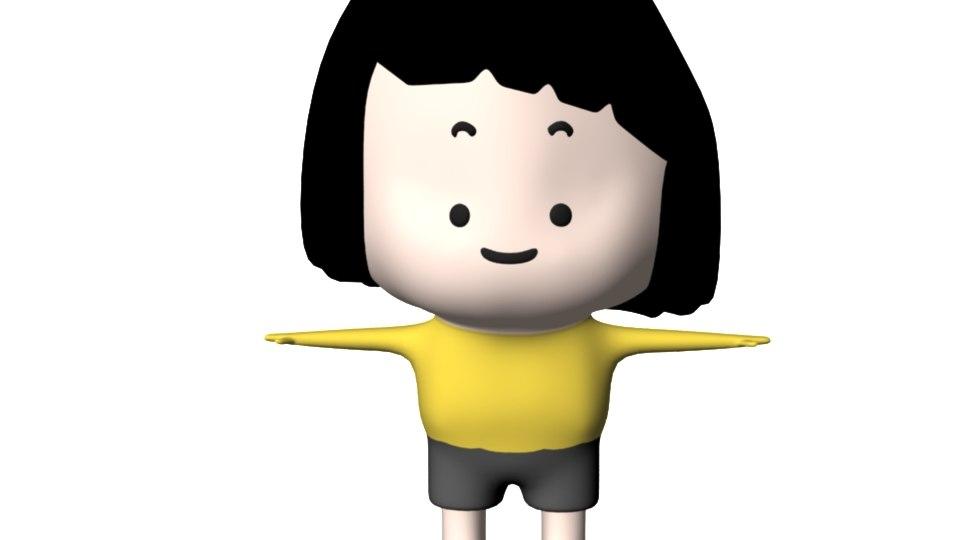 cute child 3D model