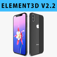 E3D - Apple iPhone X ( iPhone 10 ) Space Gray