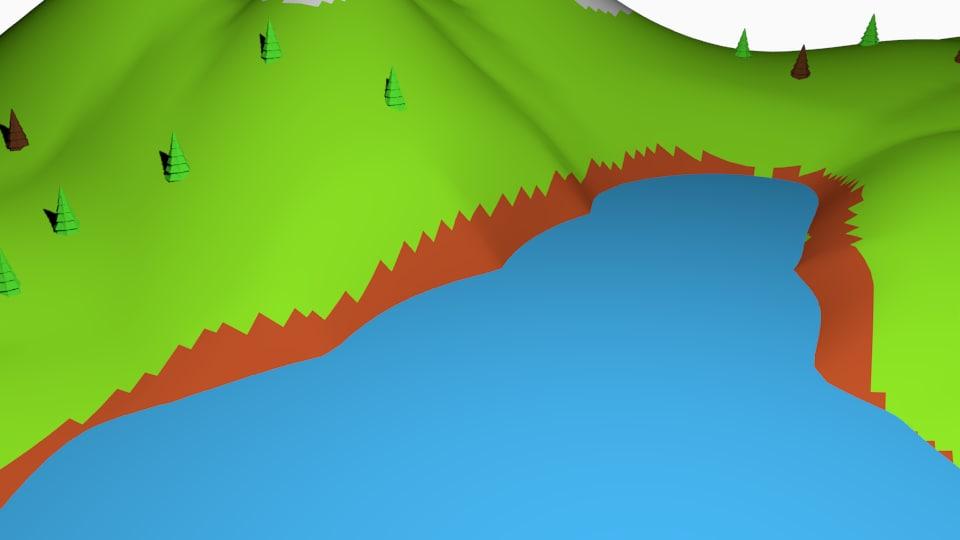 terrain 01 - river 3D model