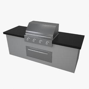 3D model garden grill